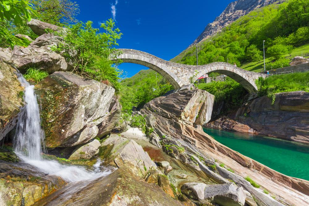 Val Verzasca, ponte e fiume