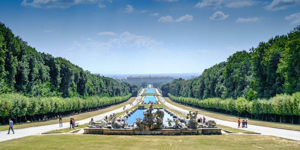 I giardini della reggia di caserta l 39 emozione del parco dei re - Giardini reggia di caserta ...