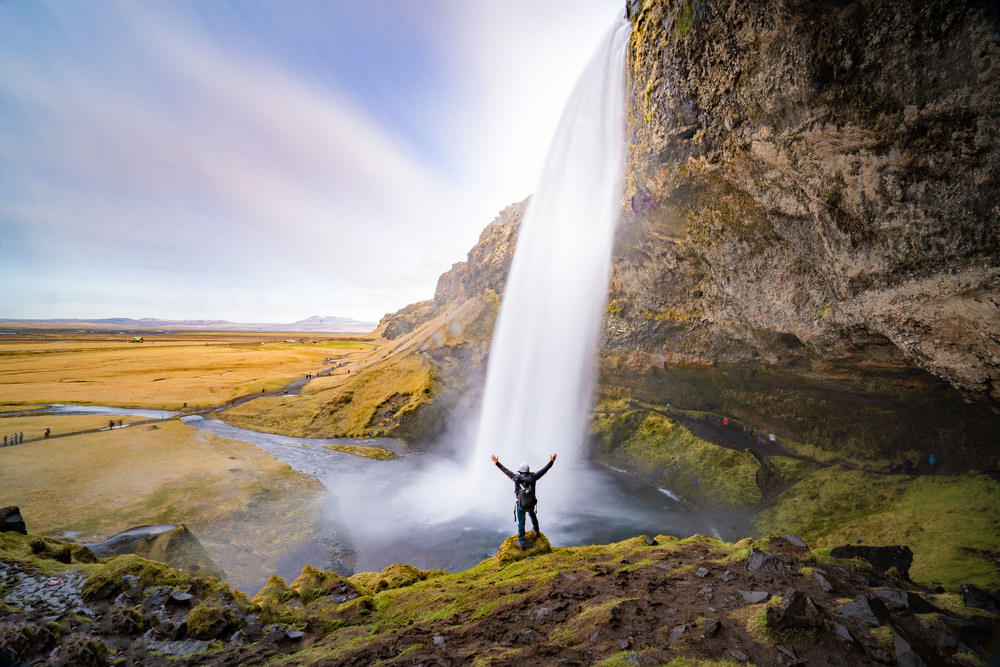 cascata seljalandsfoss, islanda