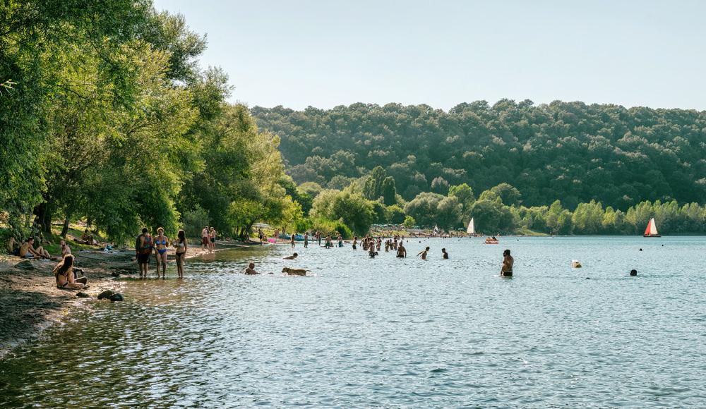Lago di Martignano, spiaggia