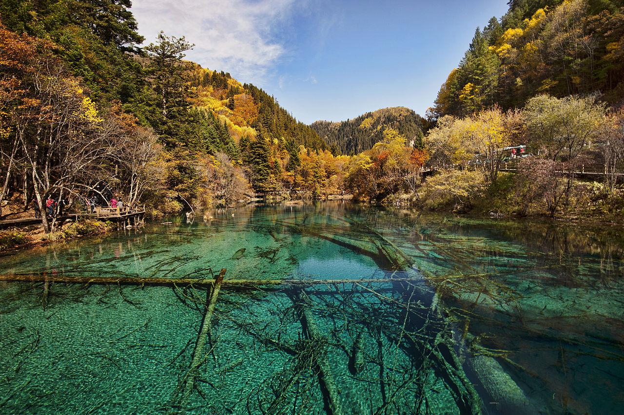 Lago Cinque Fiori, Jiuzhaigou