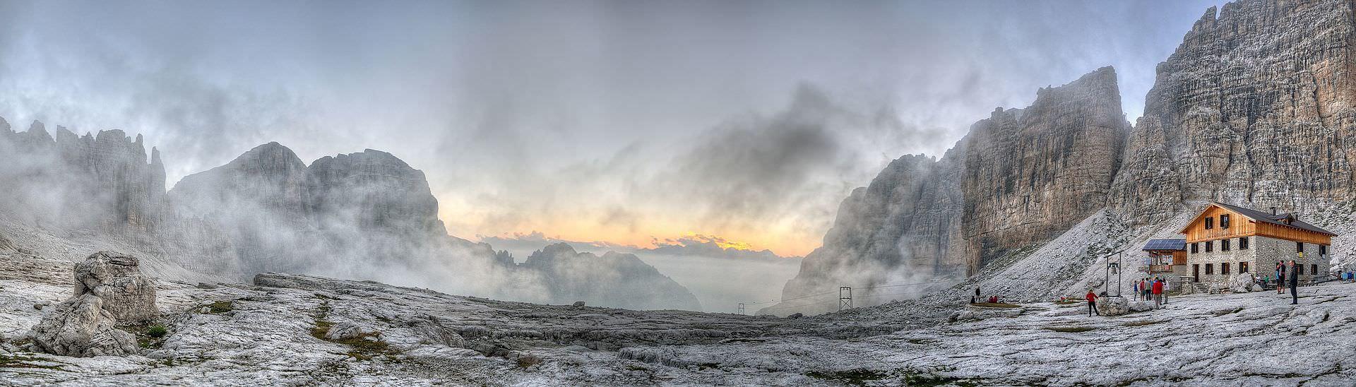 Rifugio Alimonta, Vedretta degli Sfulmini