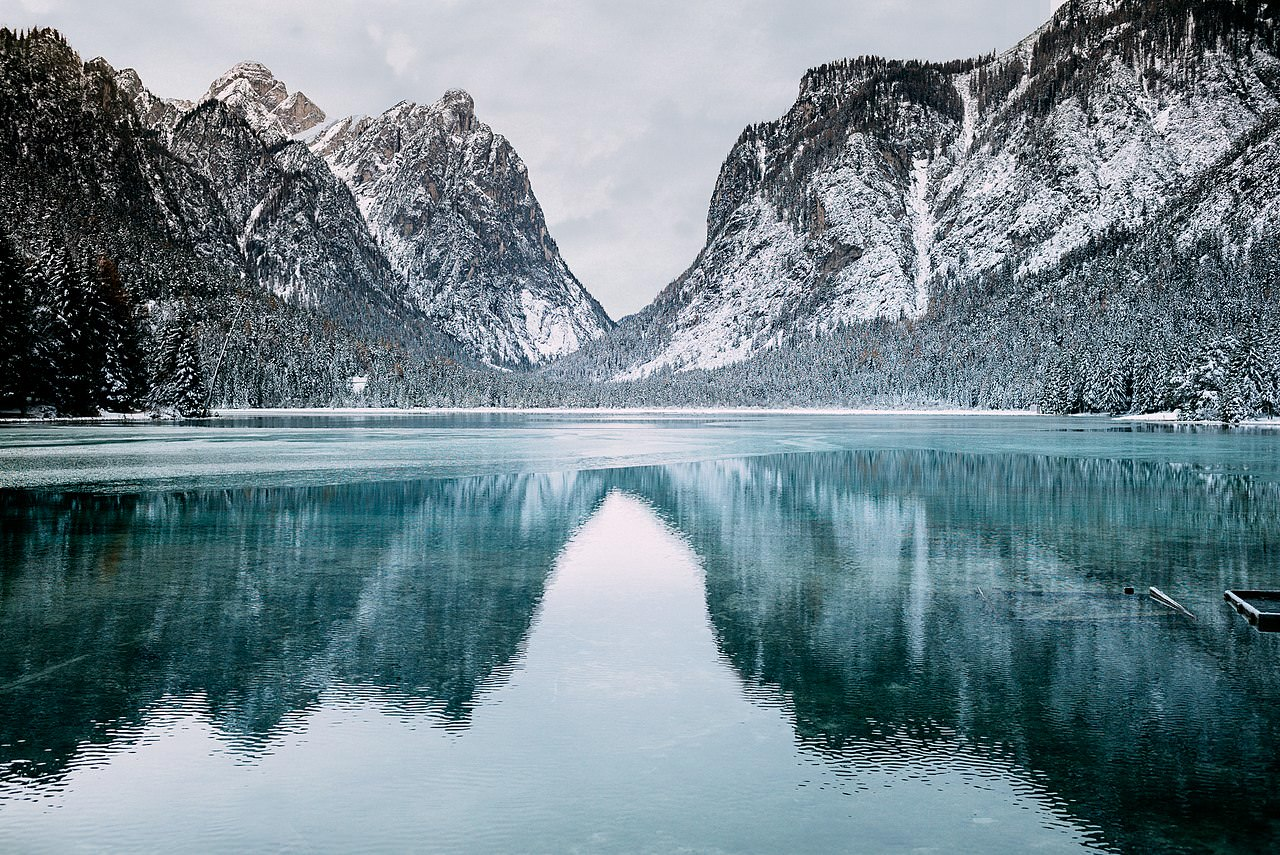 Lago di Dobbiaco, inverno
