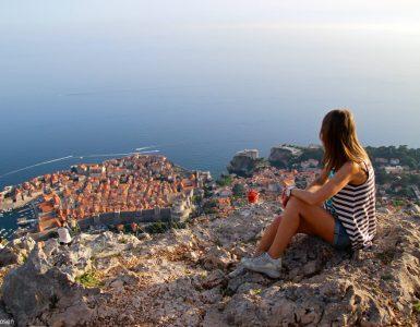 Vista di Dubrovnik dal Monte Srđ