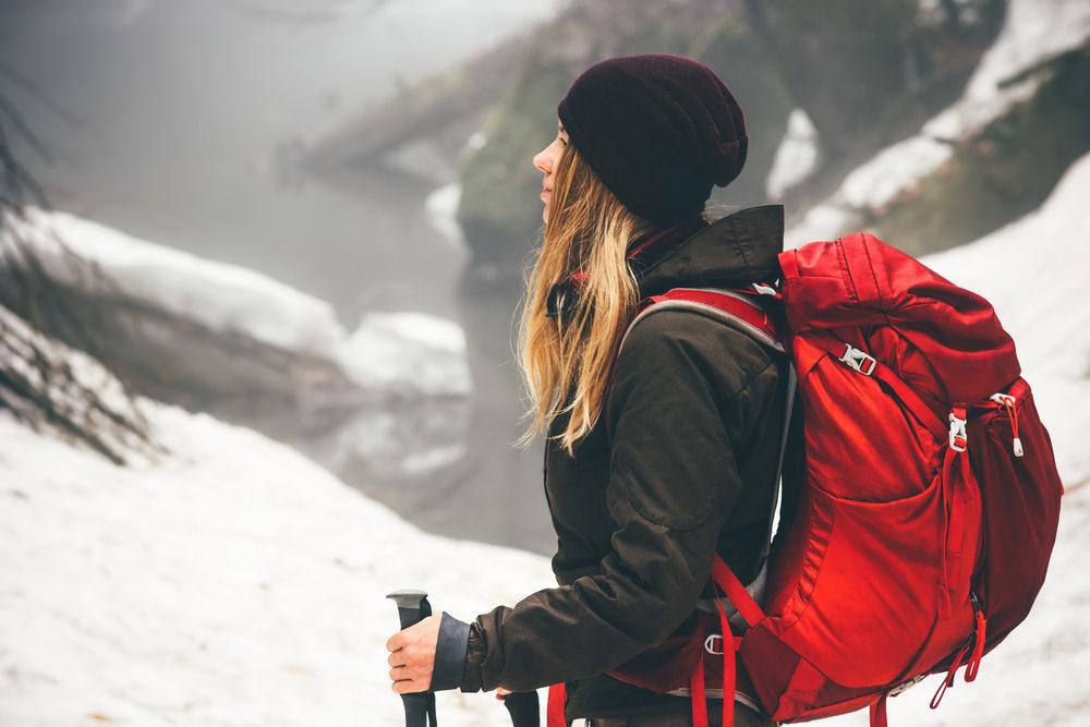 zaino trekking inverno
