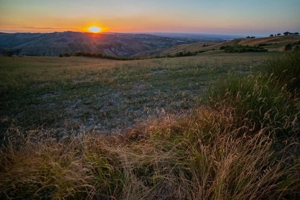 Monte Calvi, tramonto